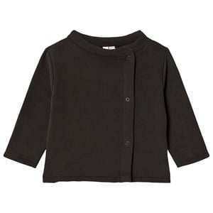 Image of Gray Label Baby Button Cardigan Nearly Black 3-6 mdr (3056068205)