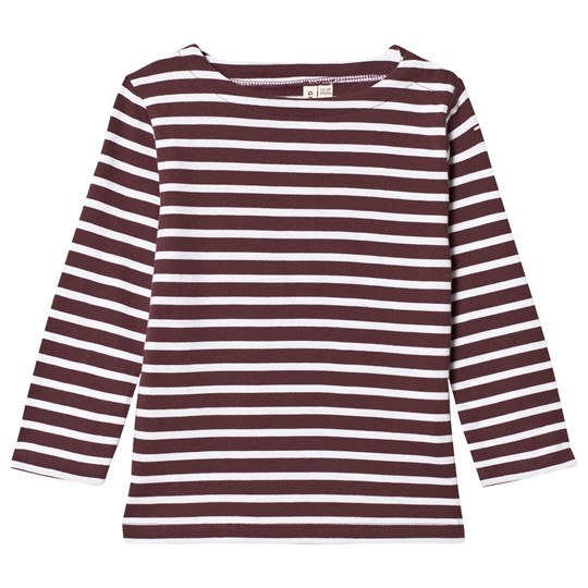 Gray Label Long Sleeve Striped Tee Plum/White Stripe Plum/White Stripe