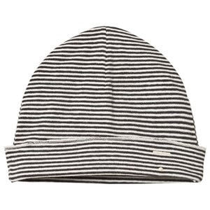 Image of Gray Label Baby Beanie Nearly Black/Cream Stripe 0-6 mdr (3056067779)