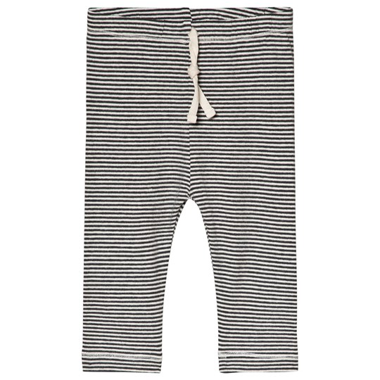 Gray Label Baby Leggings Nearly Black/Cream Stripe Nearly Black/Cream