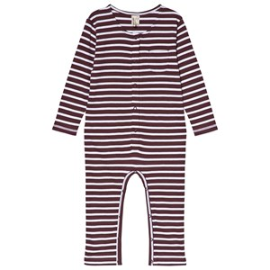 Image of Gray Label One-Piece Plum/White Stripe 18-24 mdr (1105073)