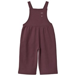 Gray Label Pleated Overalls Plum