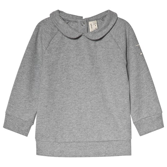 Gray Label Collar Sweater Grey Melange Grey Melange