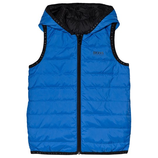 BOSS Black and Blue Reversible Gilet 871