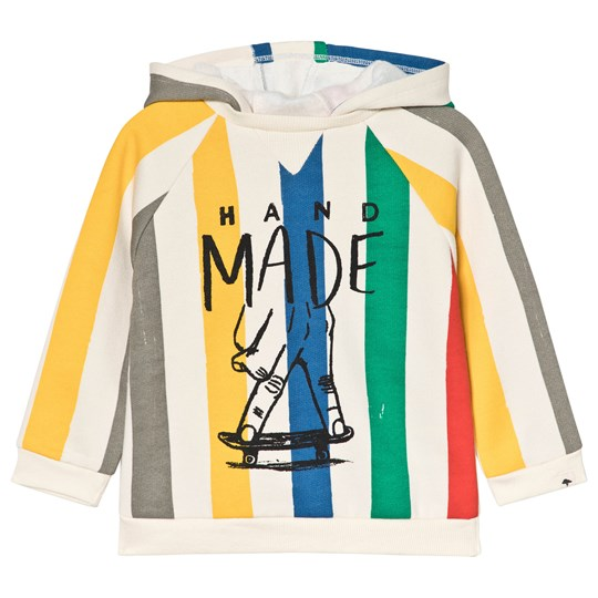 Billybandit Cream and Multi Colour Stripe Hoody Z40