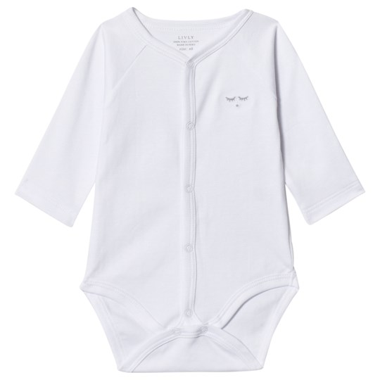 Livly Full Snap Baby Body White White
