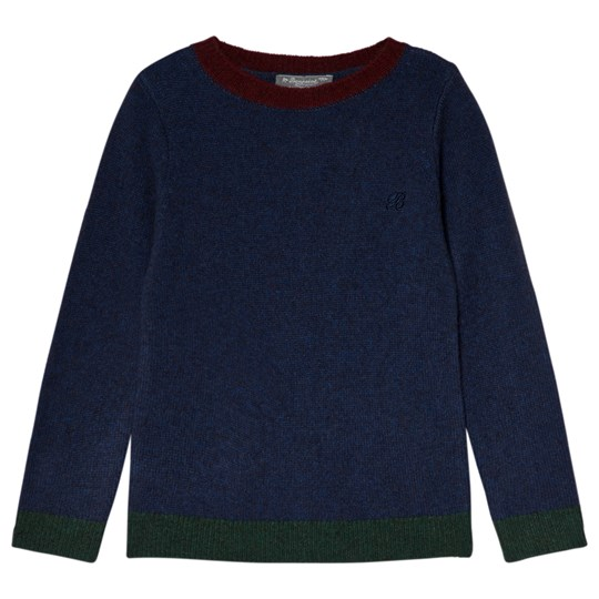 Bonpoint Navy Knit Contrast Sweater 177