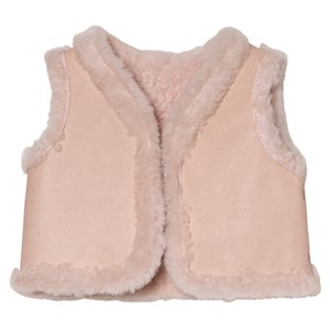 Image of Bonpoint Pink Sheepskin Gilet T2 (18m-3 years) (3056094003)