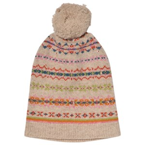Image of Bonpoint Beige and Pink Jacquard Hat T4 (4-8 years) (3056094179)