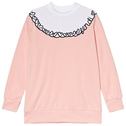 Fendi Pink Heart Embroidered Sweatshirt