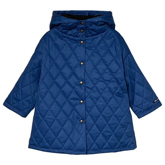 Little Creative Factory Blue Hooded Quilted Coat Blue