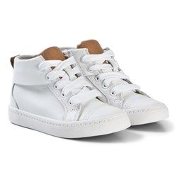 Clarks City Oasis Hi Boots White Leather