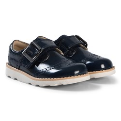 Clarks Crown Pride Shoes Navy Patent