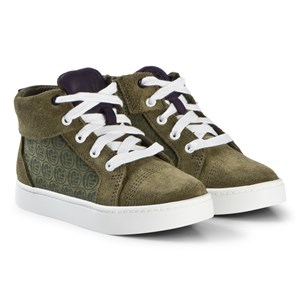 Image of Clarks City Hero Hi Boots Green Suede 32.5 (UK 13.5) (1205322)