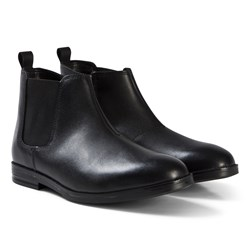 Clarks Rufus Trail Boots Black Leather