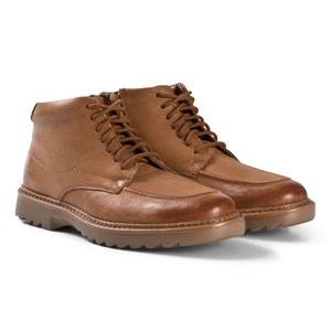 Image of Clarks Asher Street Boots Tan Leather 37.5 (UK 4.5) (1207608)