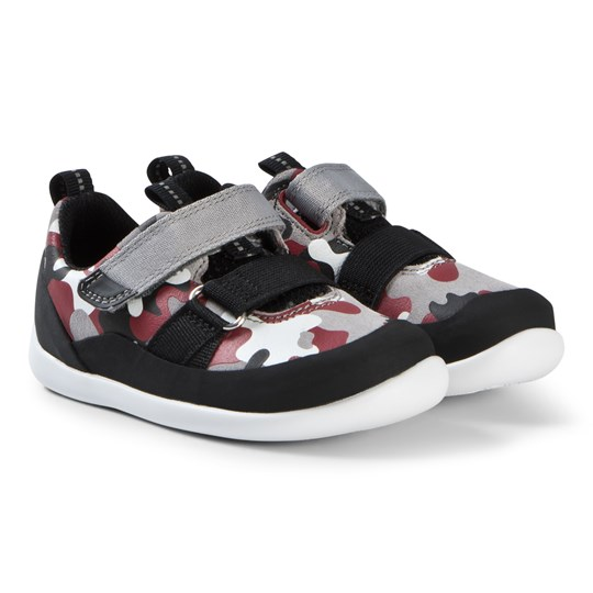 Clarks Play Pioneer Shoes Red Camouflage Red Camo