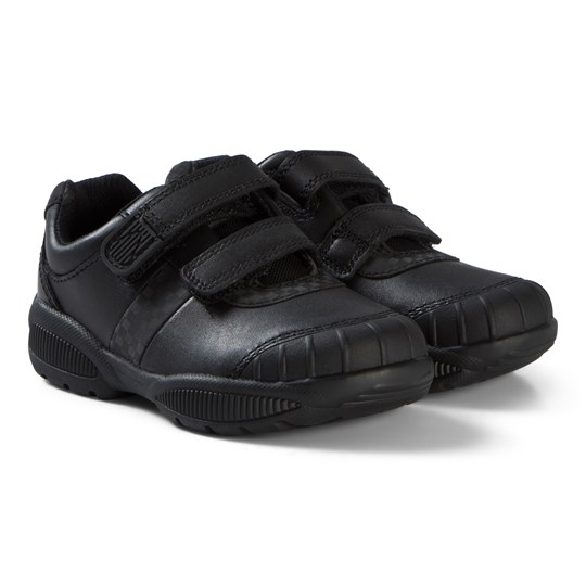Clarks Jonas Glo Sneakers Black Leather Black