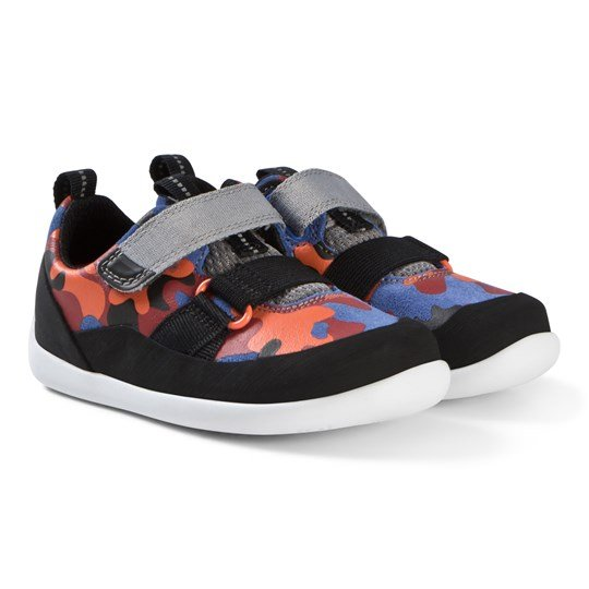 Clarks Play Pioneer Shoes Blue Camouflage Blue Camo