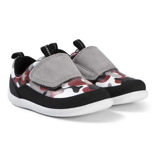 Clarks Play Spark Shoes Red Camouflage Red Camo