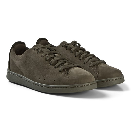 Clarks Nate Lace Sneakers Green Nubuck Olive Nubuck