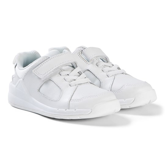 Clarks Orbit Ride Sneakers White Leather White Leather