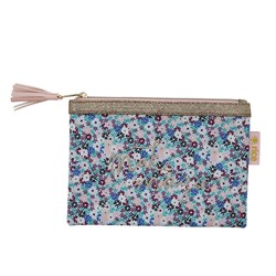 Rice Flat Pencil Case Small Flower