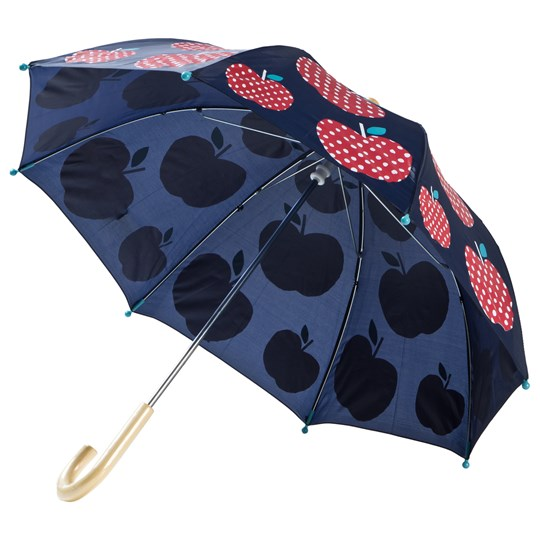 Hatley Navy Polka Dot Apples Umbrella Navy
