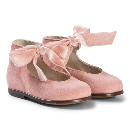 Bonpoint Pink Suede Mary Janes 022