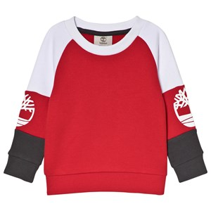 Image of Timberland Logo Sweater Red/Grey 6 years (3056076893)