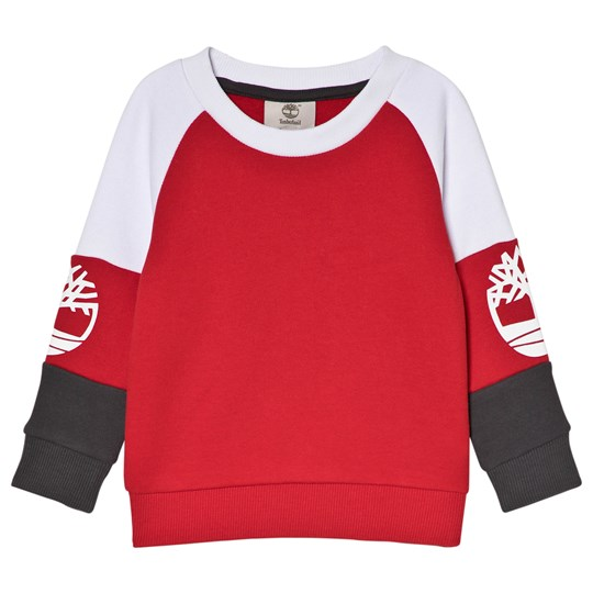 Timberland Logo Sweater Red/Grey 971