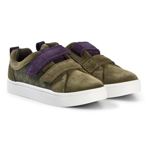 Image of Clarks City Hero Lo sko Green Suede 33.5 (UK 1.5) (1205403)