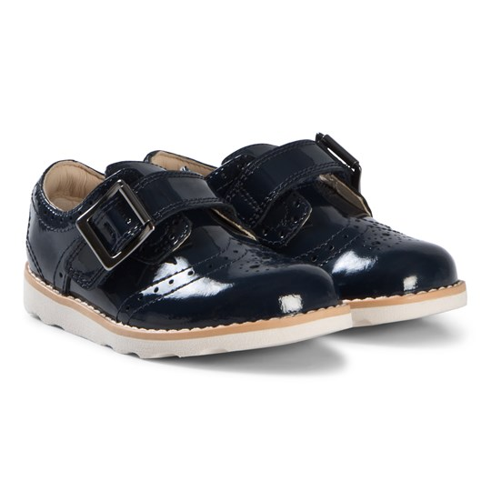 Clarks Crown Pride Infant Shoes Navy Patent Navy Patent