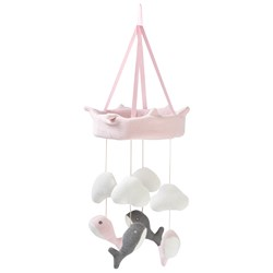STOY Whale Mobile Pink