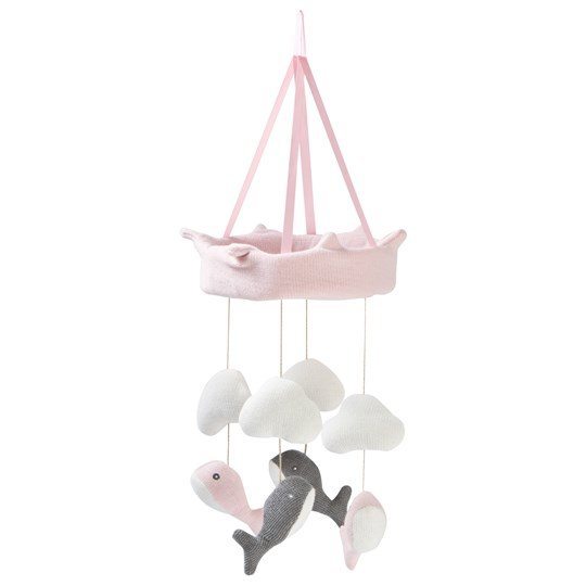STOY Whale Mobile Pink Pink