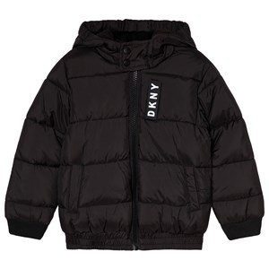 Image of DKNY Black Logo Puffer Coat 4 years (3056074107)