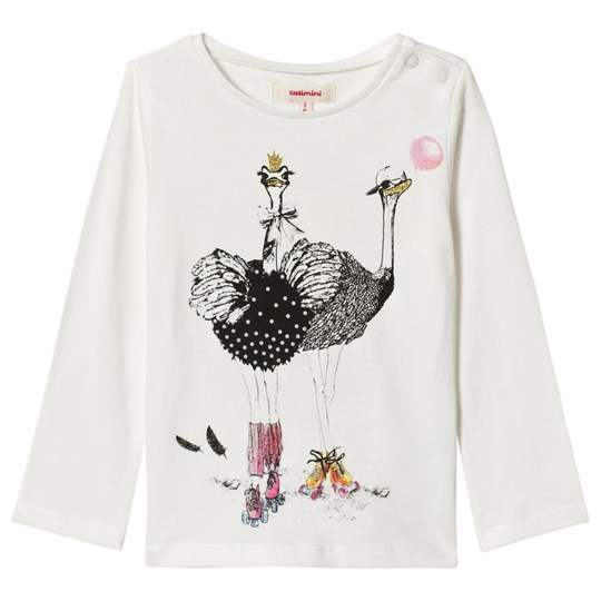 Catimini White Ostrich Party Long Sleeve Tee 11