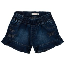 Catimini Blue Frill Denim Shorts