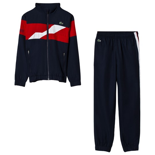 Lacoste Tracksuit Navy/Red KQN
