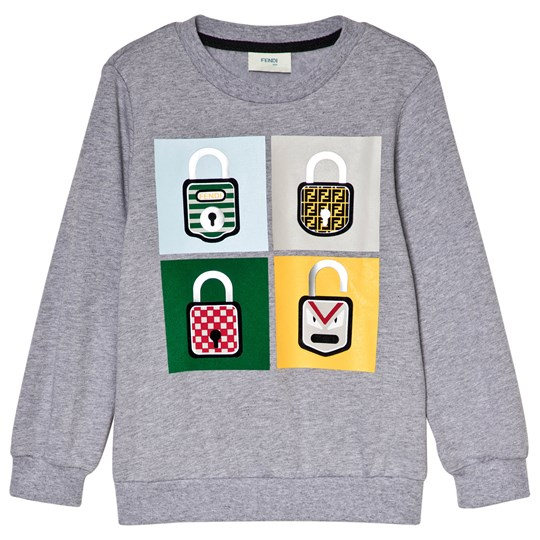 Fendi Grey Monster Lock Sweatshirt F0HA1