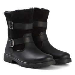 Primigi Black Suede and Leather Waterproof Goretex Shearling Lined Boots