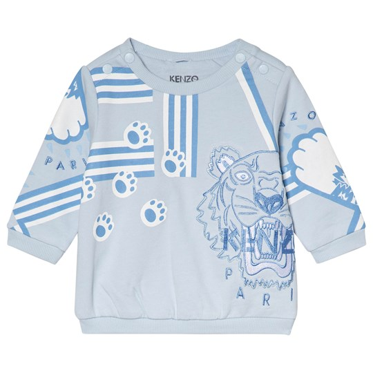 Kenzo Blue Tiger Print and Paws Sweatshirt 41