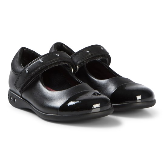 Clarks Prime Walk Shoes Black Leather Black Leather