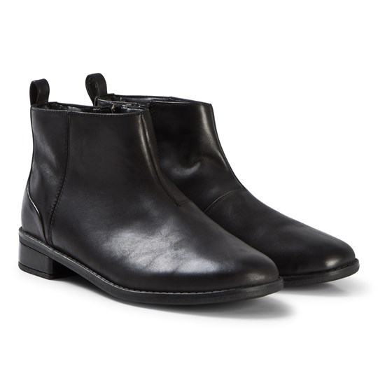 Clarks Drew Moon Boots Black Leather Black Leather