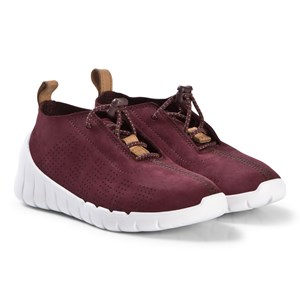 Image of Clarks Sprint Elite Sneakers Burgundy Nubuck 33.5 (UK 1.5) (1208123)