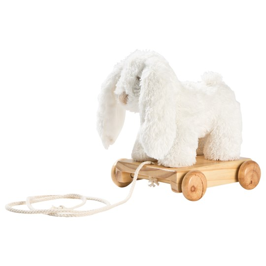 STOY White Bunny Pull-Along Toy White