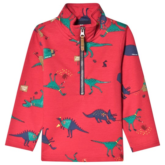 Tom Joule Red Dale Dino Half Zip Top RED DINO SCOUT