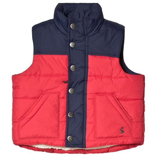 Tom Joule Red Matchday Padded Gilet Red