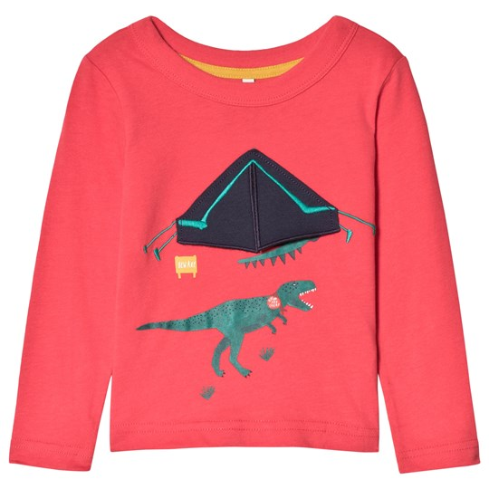 Tom Joule Red Dinosaur Tent Applique Long Sleeve Top RED TENT