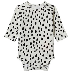 Noe & Zoe Berlin White Black Drops Print Long Sleeve Body